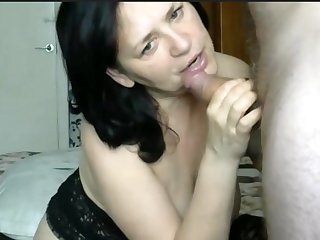 Mature russian couple having oral sex