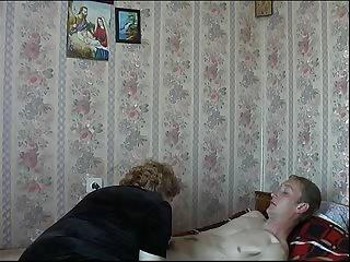 Mom Son's friend Russian Mature..