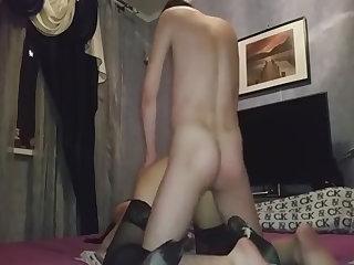 russian mature mom in stockings fuck..