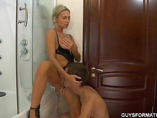 Ninette - Hot Russian Mom in shower 2..