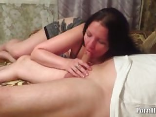 mature milf sucks dick!