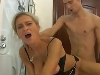 Russian mom love anal fuck