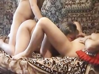 Lucky guy films himself fucking two..